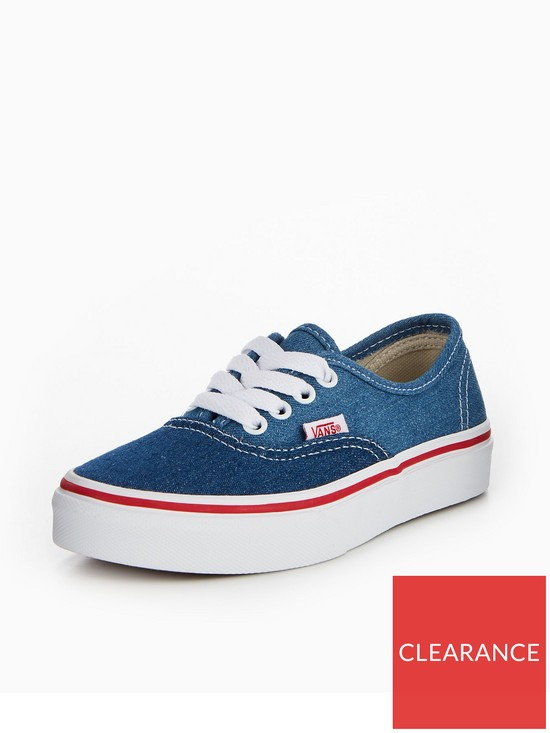 c793b7ab15 Vans Vans Uy Authentic Denim 2-tone Childrens Trainer
