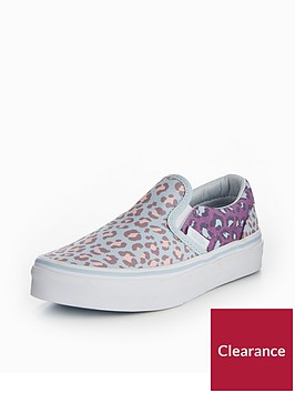 vans-uynbspclassic-slip-on-2-tone-leopard-childrens-trainers-blue