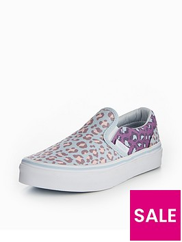 vans-vans-uy-classic-slip-on-2-tone-leopard-childrens-trainer