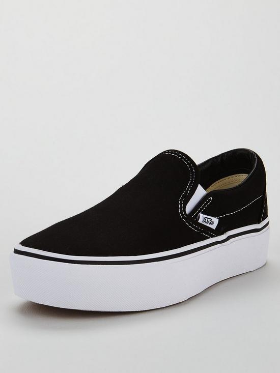 UA Classic Slip-On Platform - Black