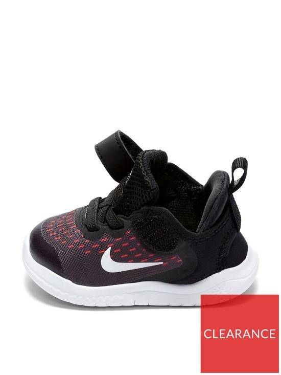 badb8fba4e450 Nike Free RN 2018 Infant Trainer - Black White Pink