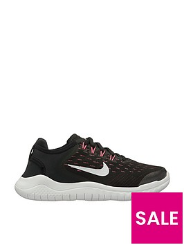 nike-free-rn-2018-junior-trainers-blackwhitepinknbsp
