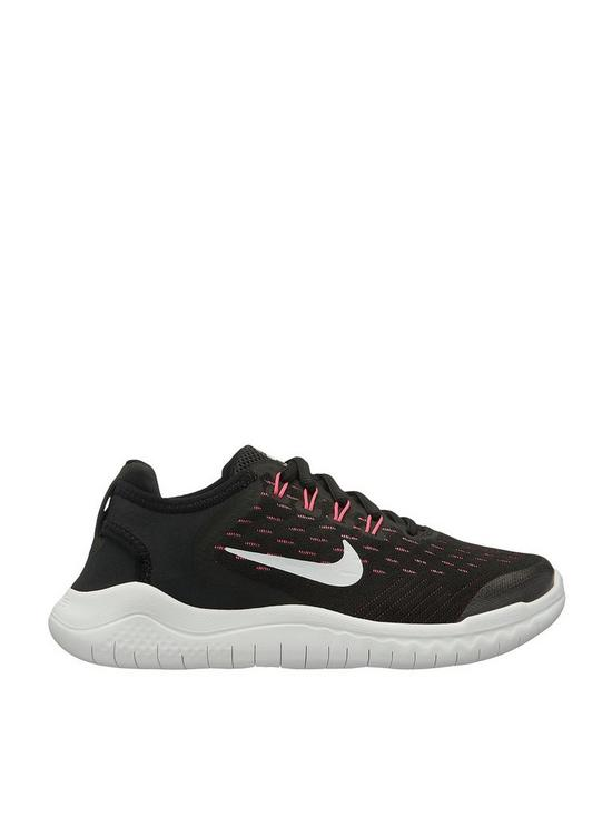 check out 90328 601a5 Free RN 2018 Junior Trainers - Black/White/Pink