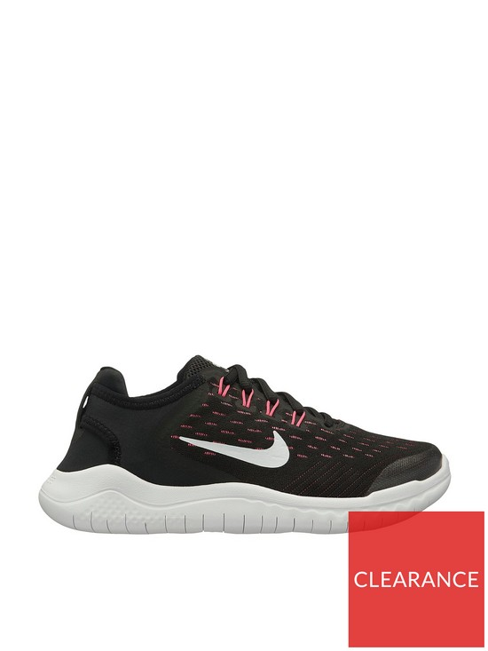 7c4a31291d6b Nike Free RN 2018 Junior Trainers - Black White Pink