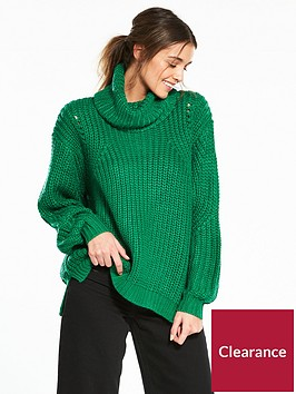 river-island-river-island-chunky-roll-neck-jumper--green