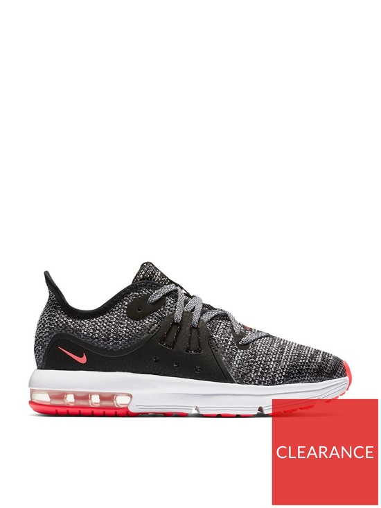timeless design 2edad 934c8 Nike Air Max Sequent 3 Childrens Trainer - Black/White/Pink | very.co.uk