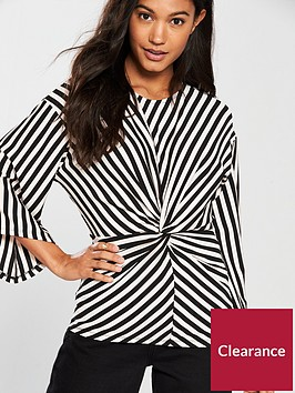 river-island-river-island-stripe-twist-blouse--mono-stripe