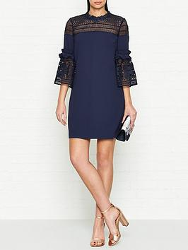 ted-baker-lucila-lace-panel-bell-sleeve-tunic-dress-navy