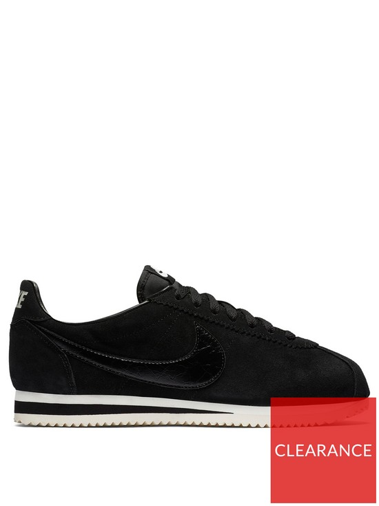promo code 82f17 90c50 Nike Classic Cortez Suede - Black   very.co.uk