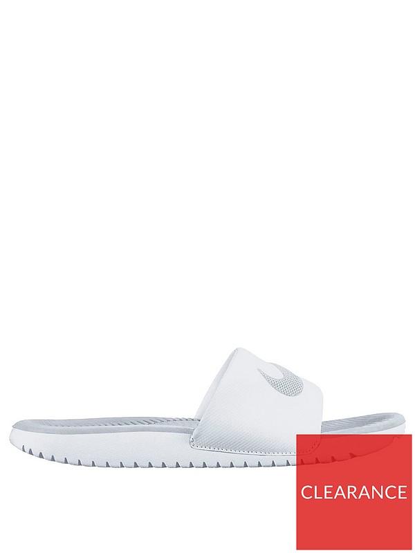new arrivals e73be 29b66 Nike Kawa Sliders - White