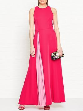 ted-baker-madizon-contrast-pleat-maxi-dress-pink
