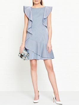 ted-baker-nemera-stripe-frill-dress-bluewhite
