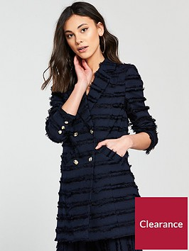 river-island-double-breasted-textured-fringe-jacket-navy