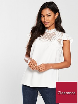 river-island-frill-sleeve-blouse--ivory