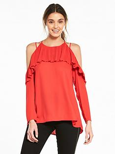 river-island-frill-blouse--red