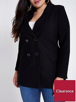 ri-plus-double-breasted-textured-blazer--black
