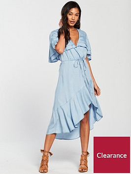river-island-river-island-printed-waisted-dress--tencel