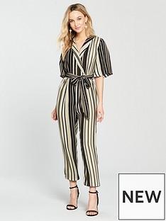 river-island-stripe-jumpsuit--black