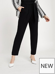 ri-petite-ri-petite-tie-waist-tapered-trousers--black