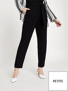 ri-petite-ri-petite-tie-waist-tapered-trousers--black