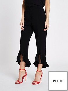 ri-petite-frill-hem-trousers--black