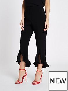 ri-petite-ri-petite-frill-hem-trousers--black
