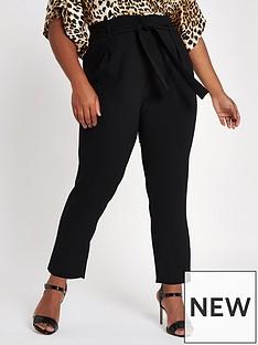 ri-plus-ri-plus-tie-waist-tapered-trousers--black