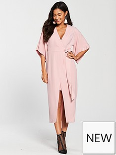 river-island-wrap-front-midi-dress--pink