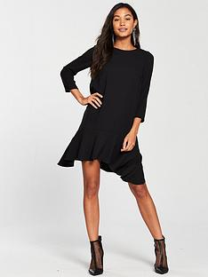 river-island-river-island-peplum-hem-swing-dress--black