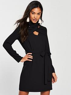 river-island-river-island-high-neck-swing-dress--black
