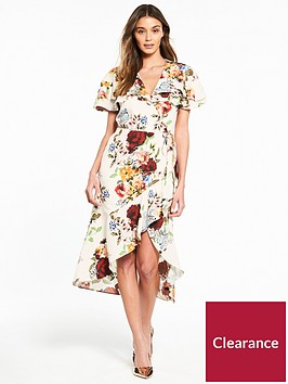 river-island-river-island-printed-waisted-dress--cream