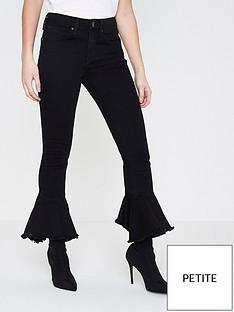 ri-petite-amelie-frill-hem-jeans--black