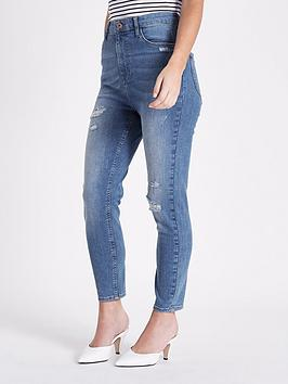 Ri Petite Harper Jeans- Mid Wash
