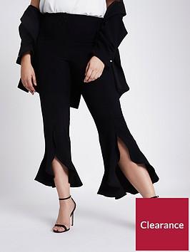 ri-plus-frill-hem-trousers--black