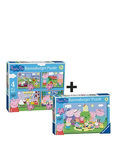ravenburger-puzzle-twin-pack-peppa-pig-6958-4-in-a-box-8632-35pc
