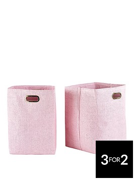 set-of-2-pink-glitter-paperloom-laundry-bags