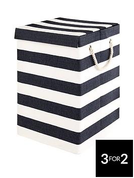 ideal-home-stripe-laundry-hamper