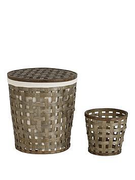 ideal-home-open-weave-laundry-hamper-amp-bin-set