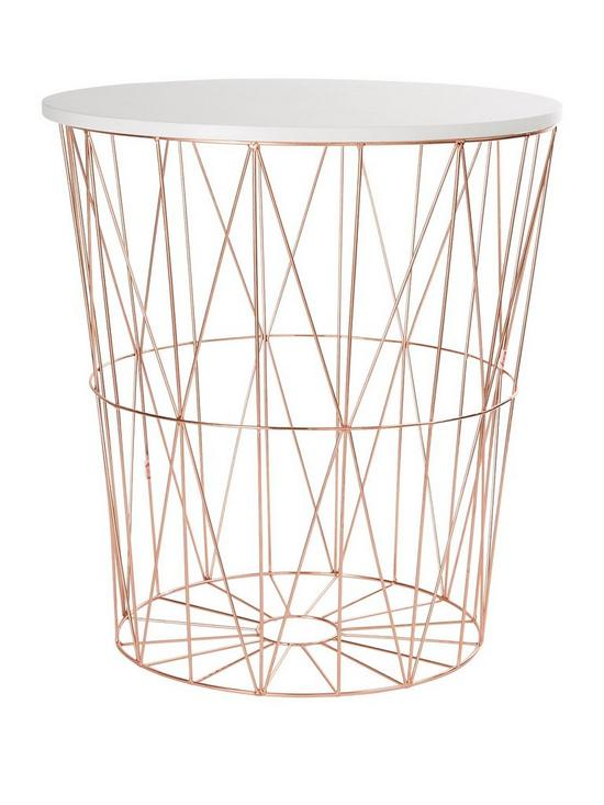 Rose gold wire storage basket very greentooth Images