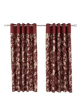 Photo of Laurence llewelyn-bowen royal rose garden eyelet curtains - 66x90