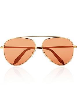 victoria-beckham-single-bridge-aviator-mirror-sunglasses--nbspgoldorange