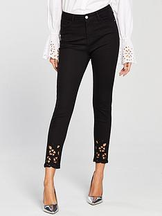 v-by-very-ella-high-rise-cropped-cutwork-skinny-jean-black