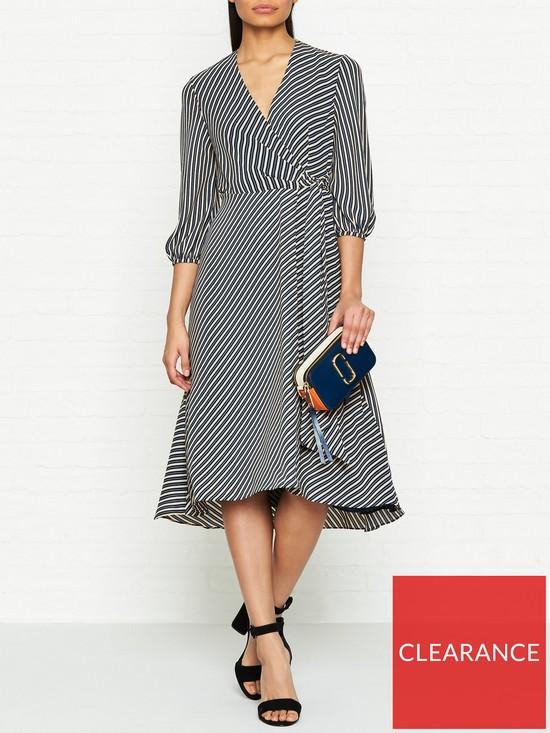 cb9ec05be3 WHISTLES Stripe Callie Wrap Dress - Multicolour