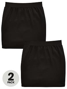 v-by-very-girls-2-pack-tube-school-skirts-black