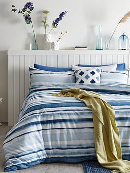 ideal-home-watercolour-stripe-cotton-rich-duvet-cover-setnbsp