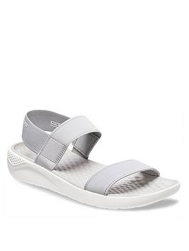 Crocs Lite Ride Sandal - Light Grey/White