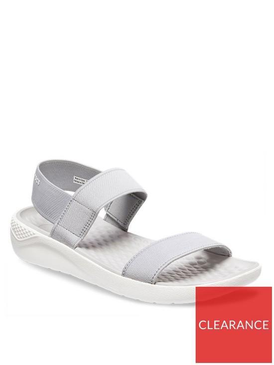 f77f398fa400 Crocs Lite Ride Sandal - Light Grey White
