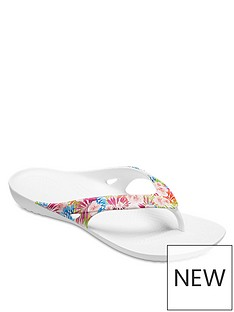 crocs-kadee-graphic-flip-flop-tropical-print