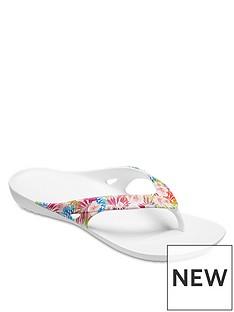 a3afd3b54a0848 Crocs Kadee Graphic Flip Flop - Tropical Print