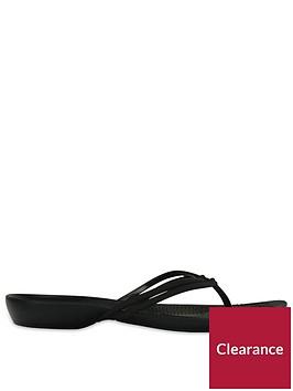 crocs-isabella-flip-flop-black